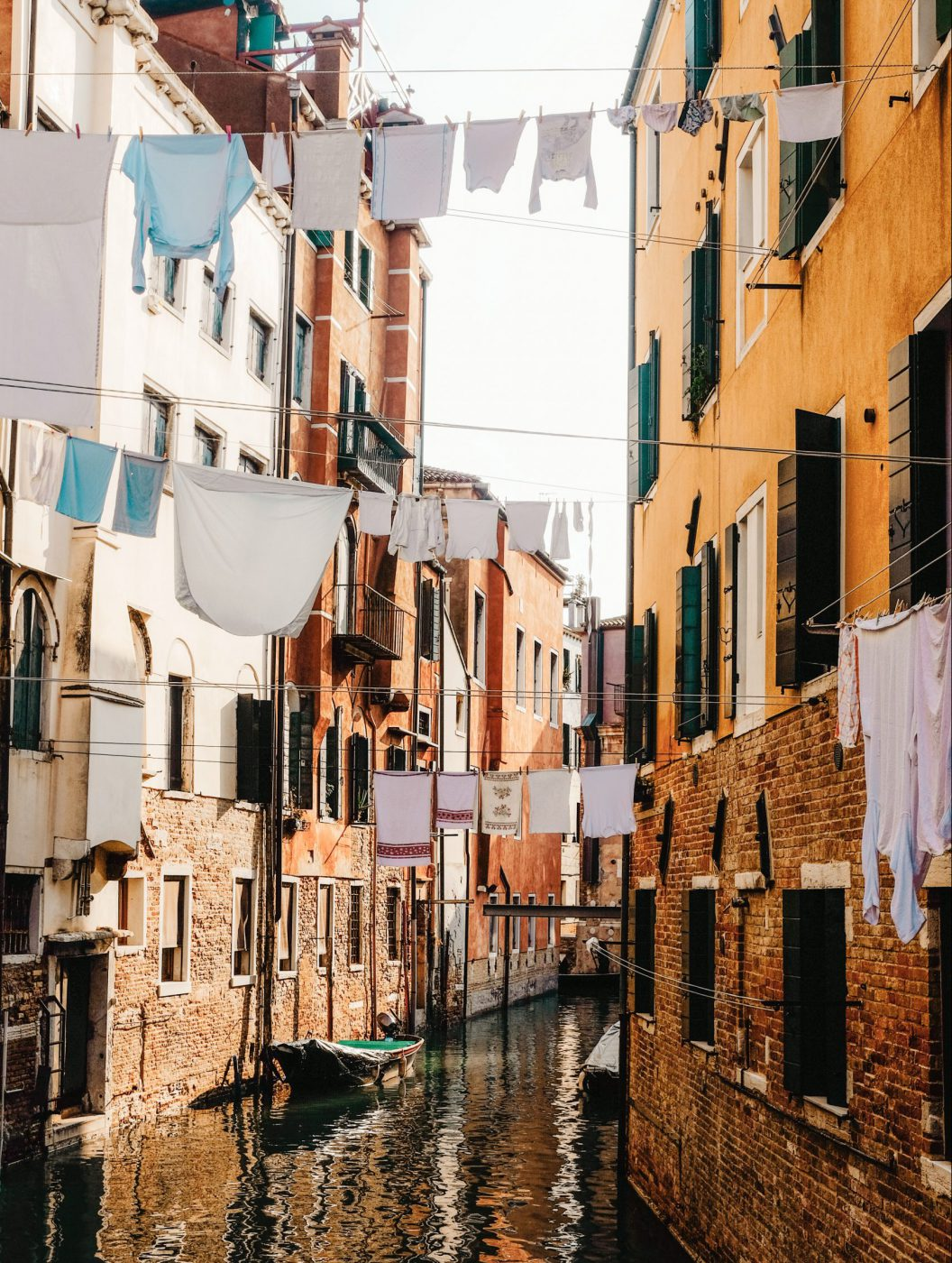 The beauty and symbolism of hanging laundry on the streets of Italy - Venice