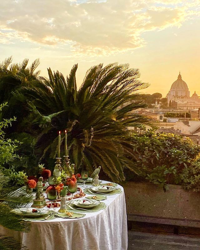 Vio's Cooking's terrace - Rome