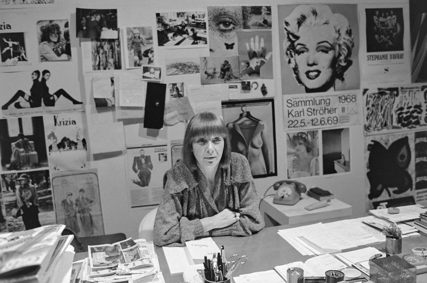 Mariuccia Mandelli a.k.a. Krizia Italian fashion designer