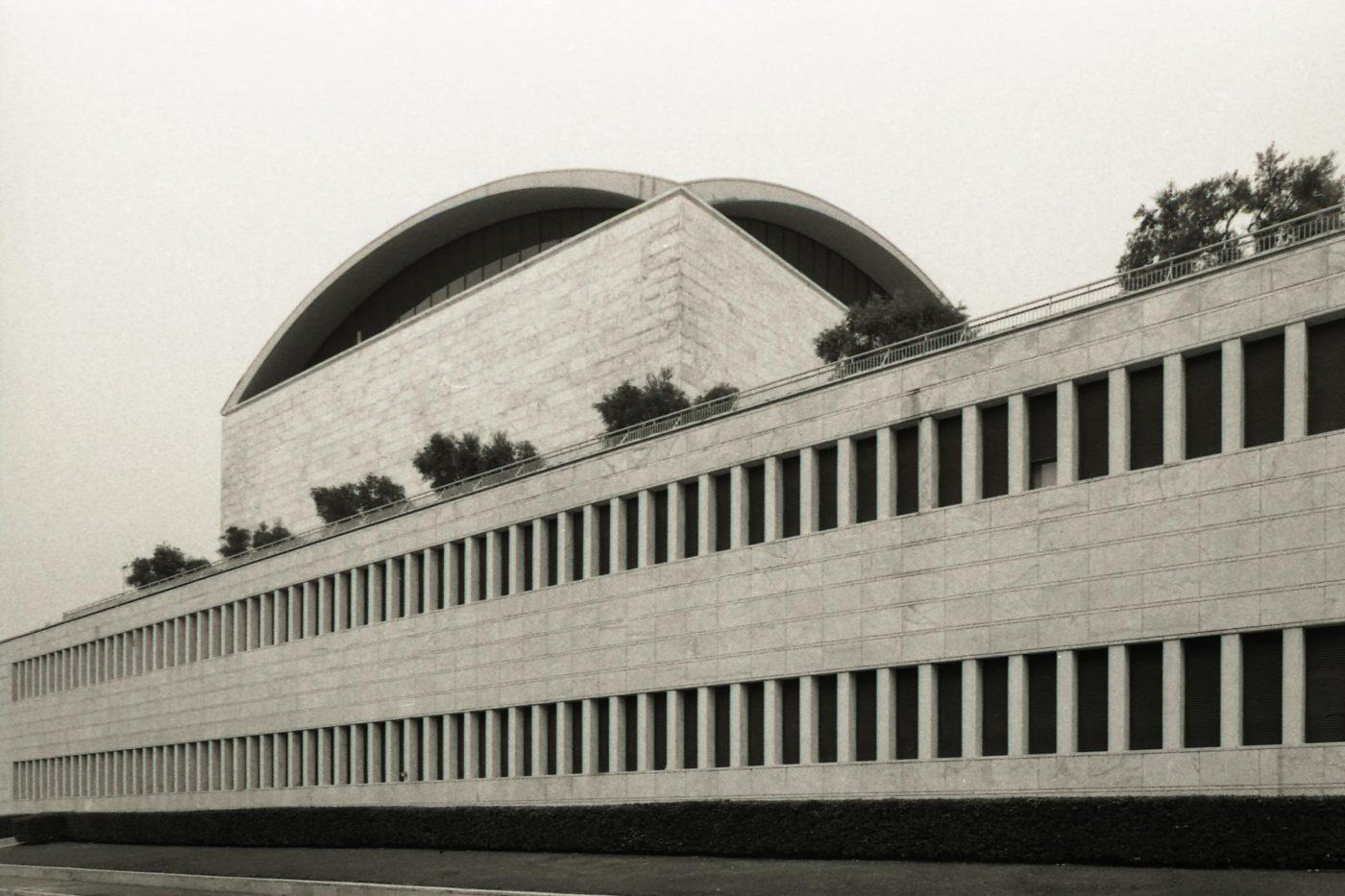 Rome's Futuristic City EUR, Palazzo dei Congressi