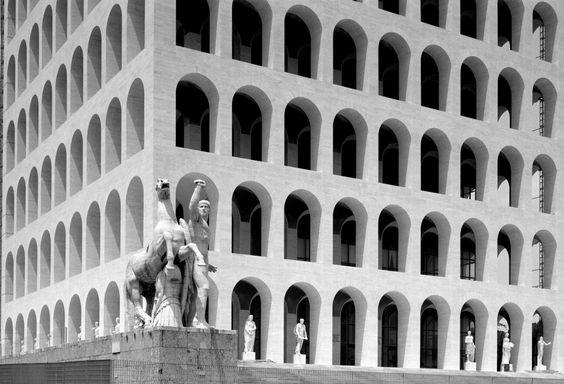 Rome's Futuristic City EUR, Palazzo della Civiltà Italiana