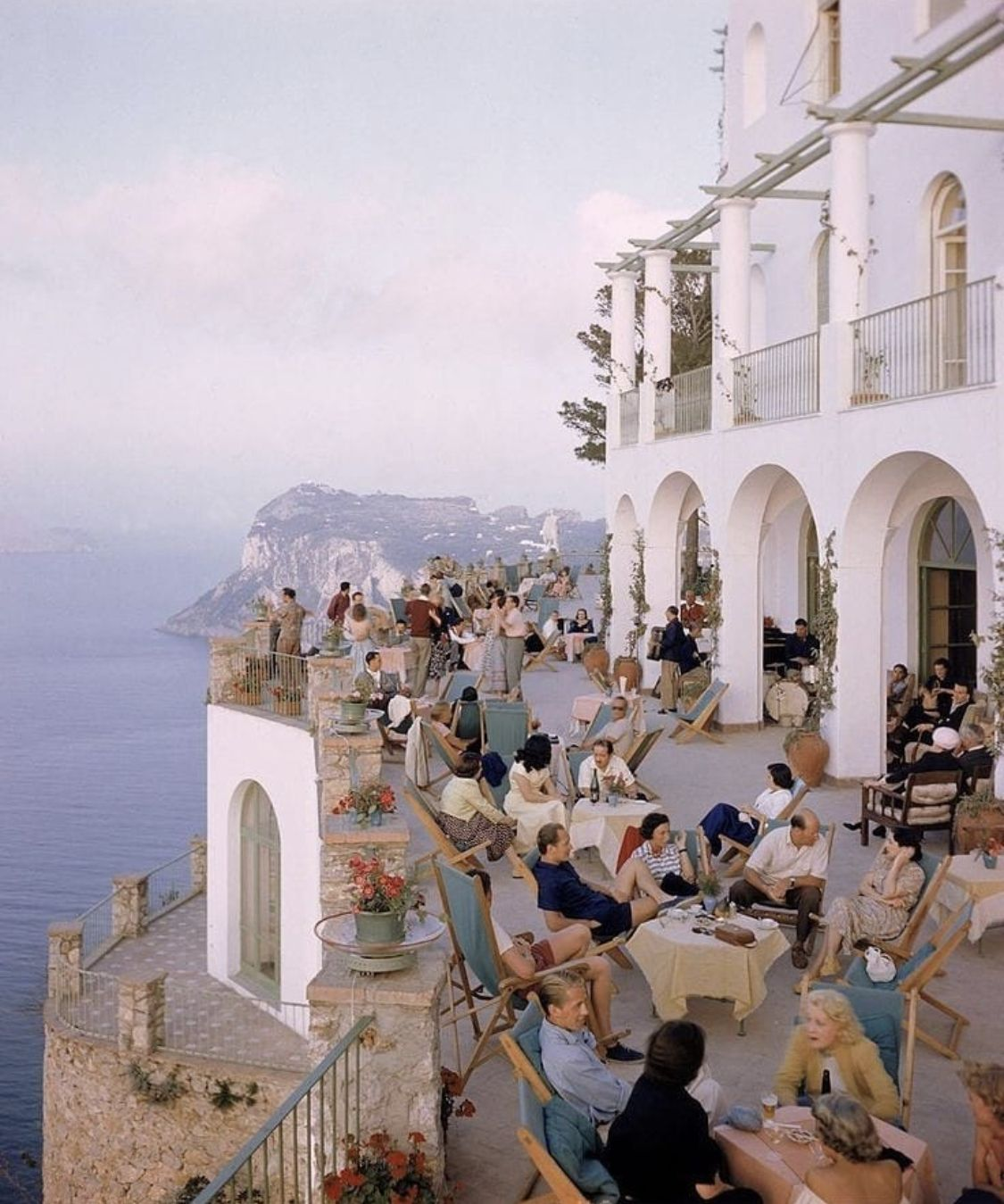 Aperitivo hour in Capri by Slim Aarons