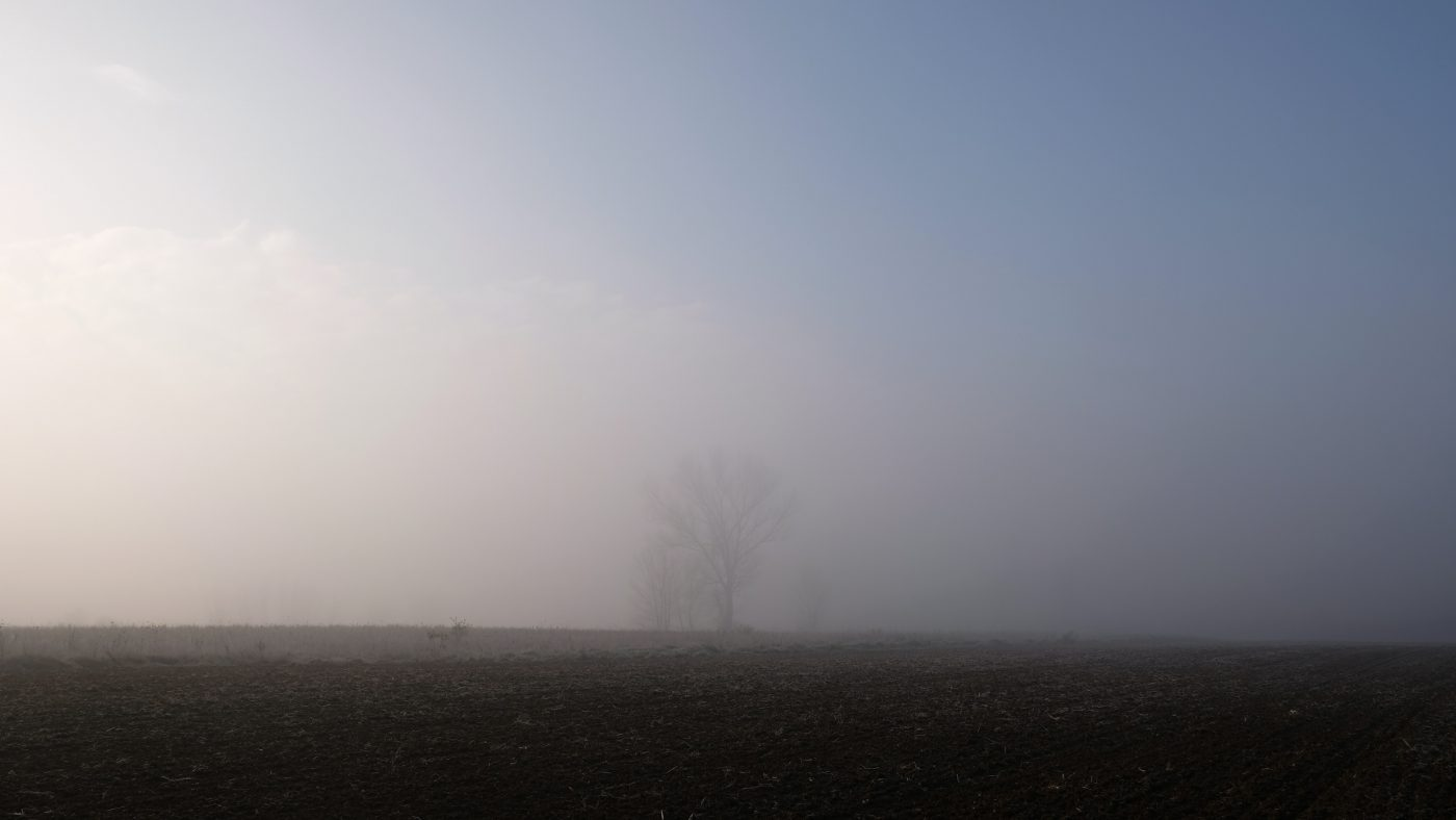 The Po Valley a vast, flat area in the North of Italy, wrapped inside the Piedmont, Lombardia, Veneto and Emilia Romagna regions characterized by the haze