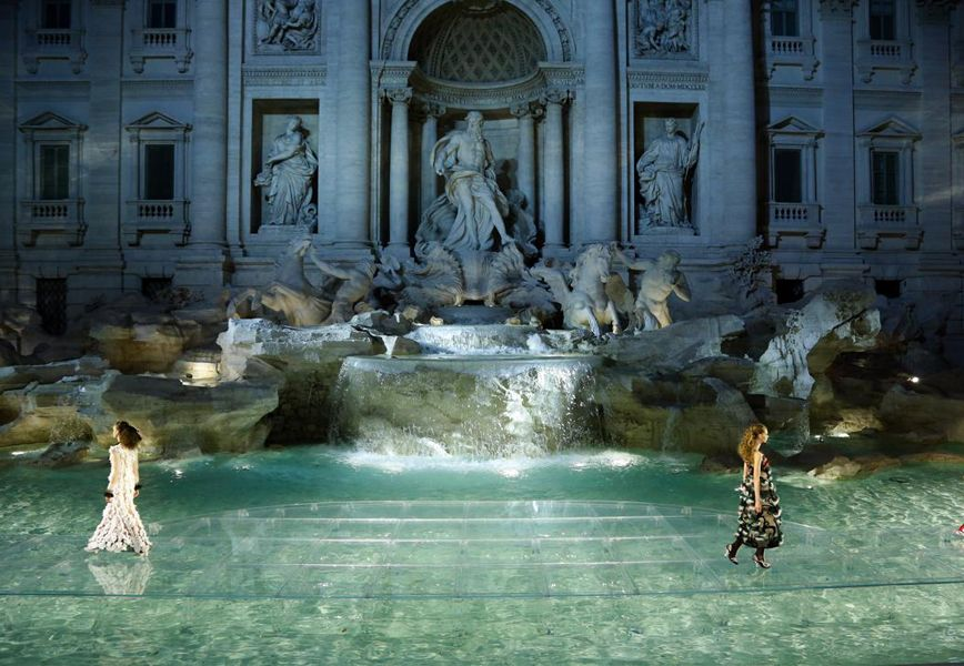 Fendi is Rome and Rome is Fendi - Fontana di Trevi