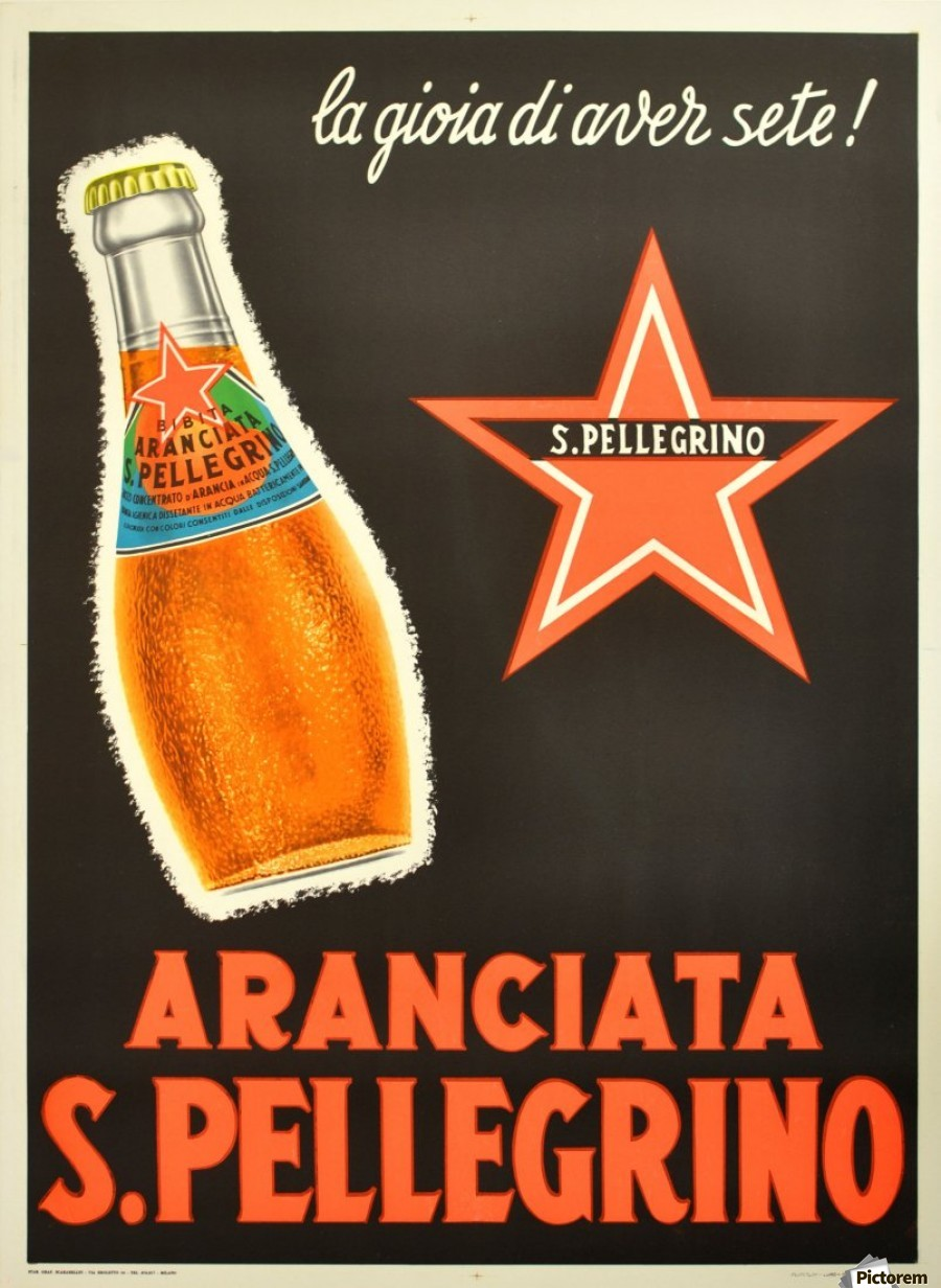 Aranciata S. Pellegrino Here the real flavors of the Made in Italy (which we don't like to admit) must be tried to understand a nation.