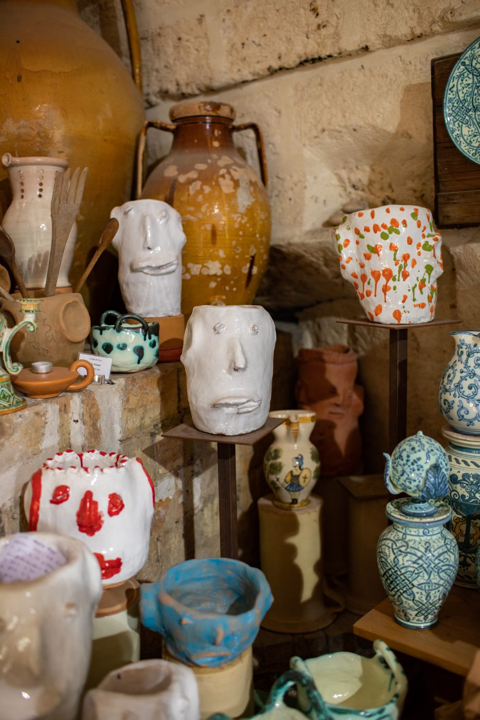 Antonio Fasano in the ceramic district of Grottaglie.