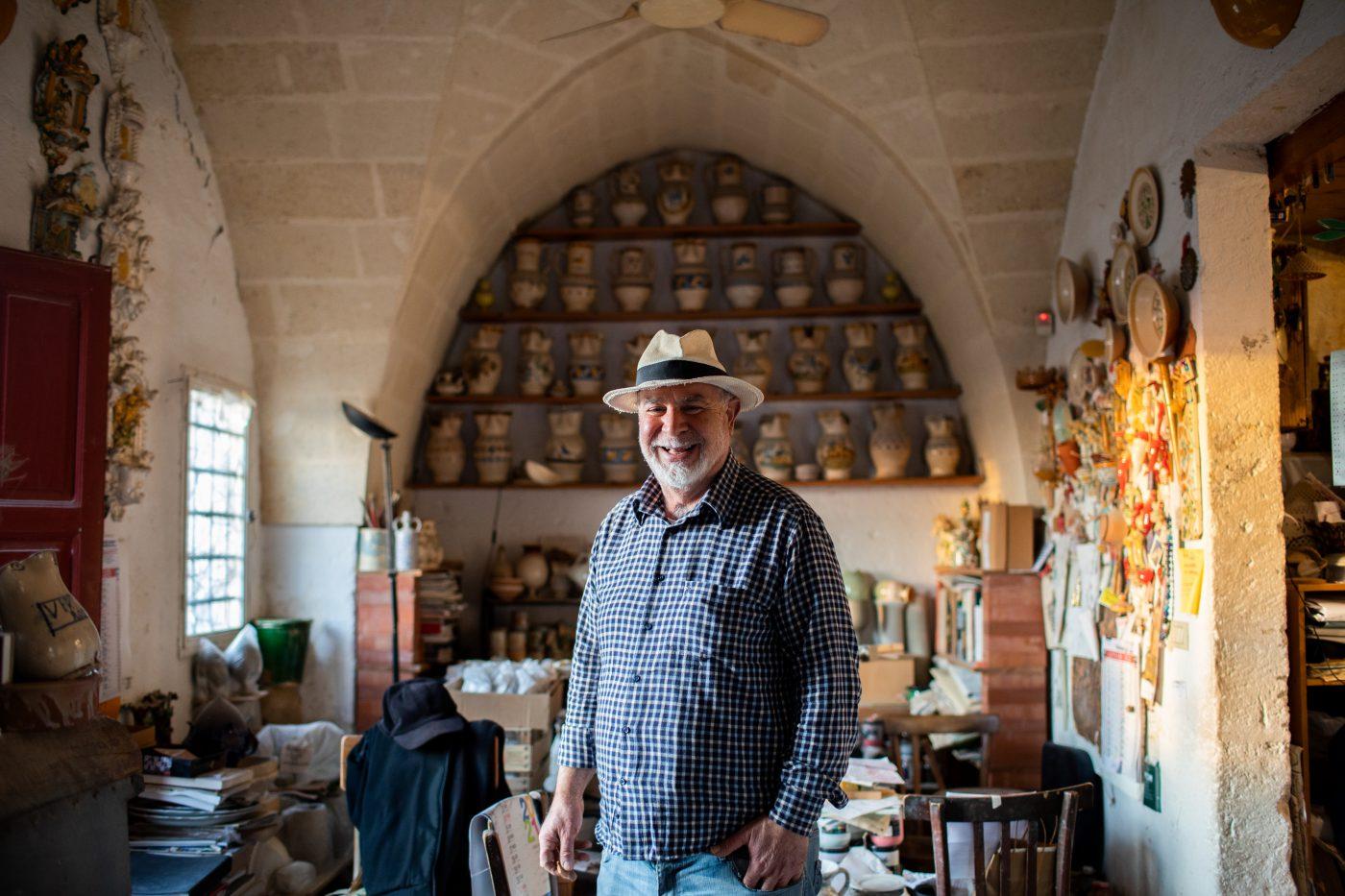 La Bottega Vestita in the ceramic district of Grottaglie.
