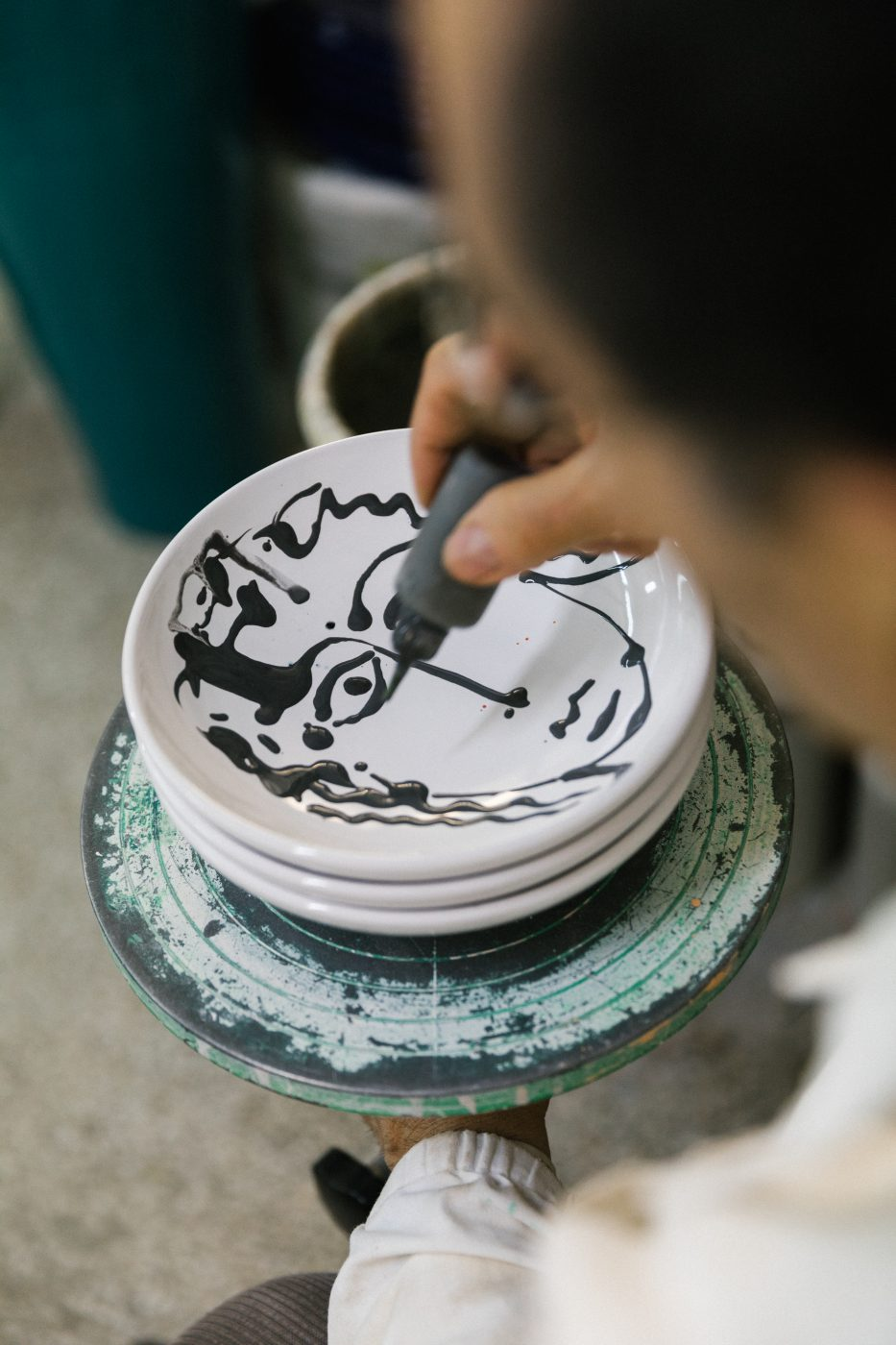 Franco Fasano in the ceramic district of Grottaglie.