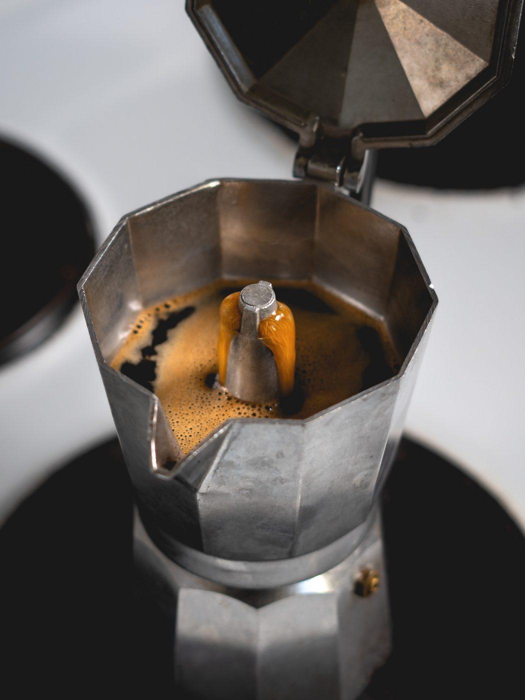 Italian coffee with moka