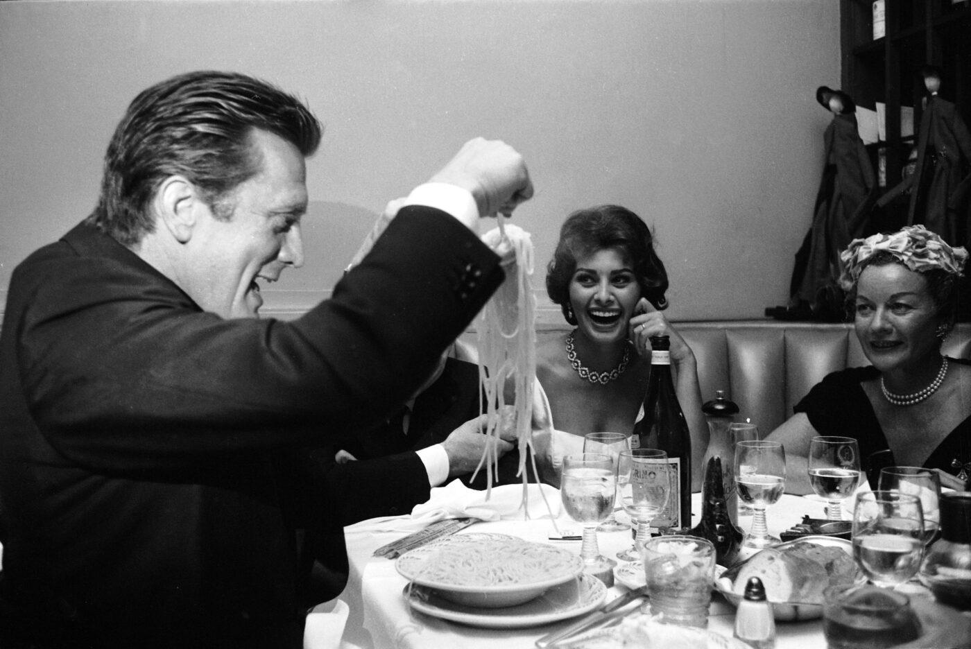 Celebrities Eating Pasta