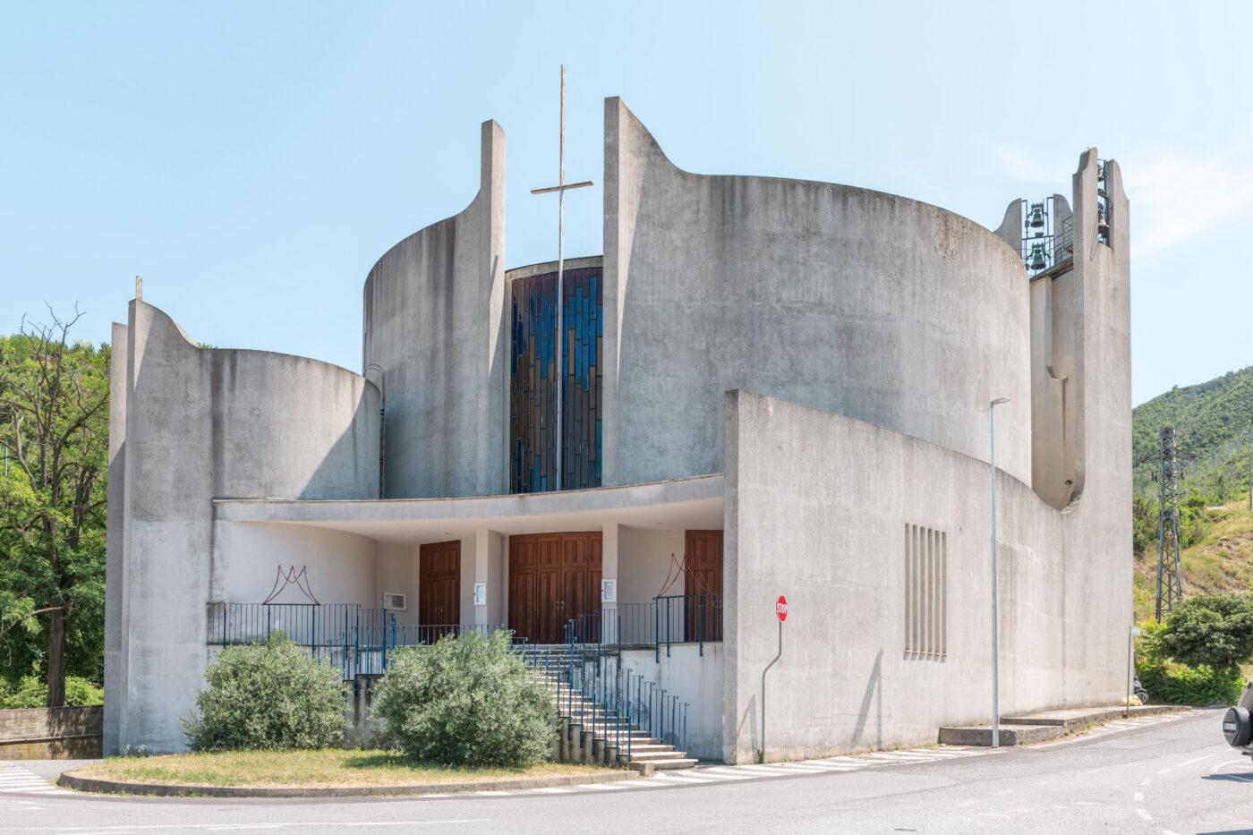 Ligurian Brutalism - Chiesta Nostra Regina della Pace