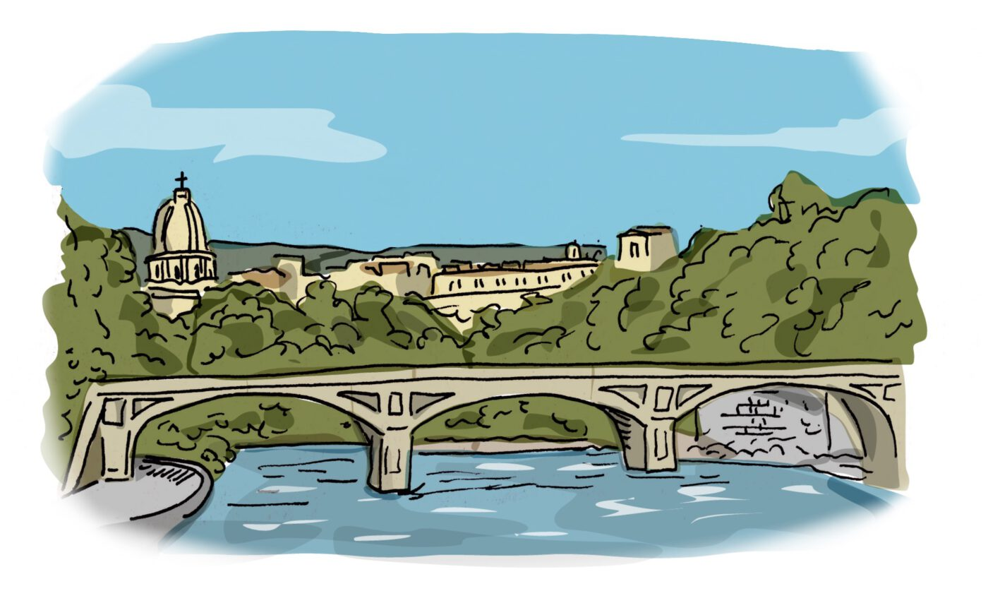 illustration of tiber river