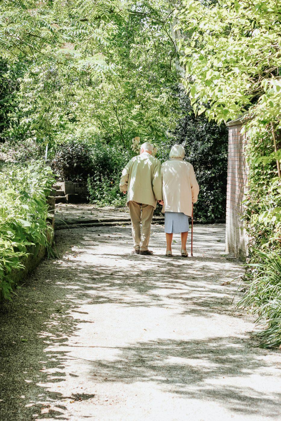 elderly people walking italy